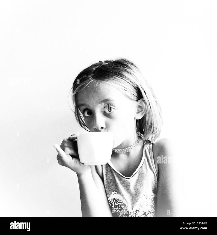 O chá da tarde Imagens de Stock