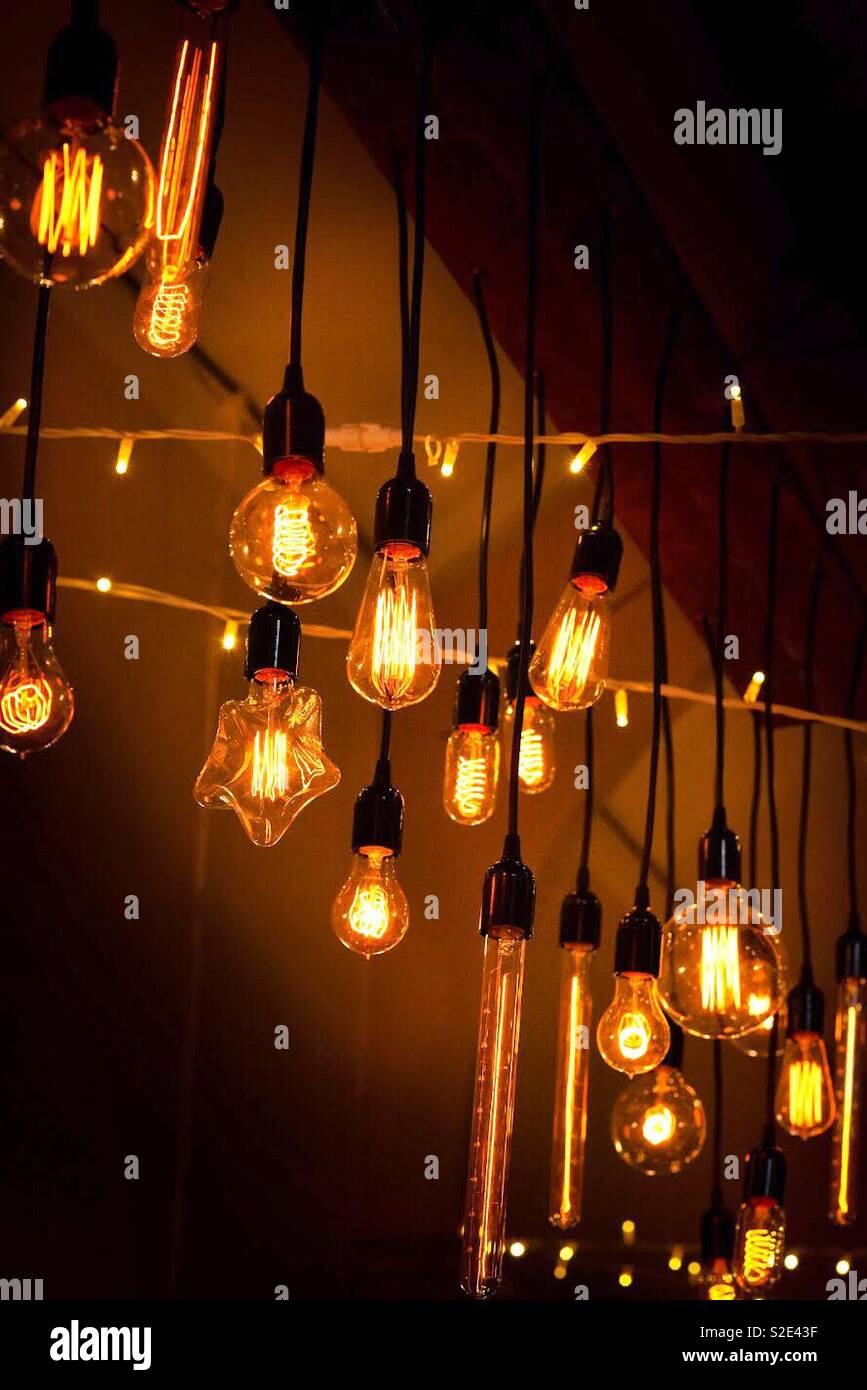 Vintage velho lâmpadas Imagens de Stock