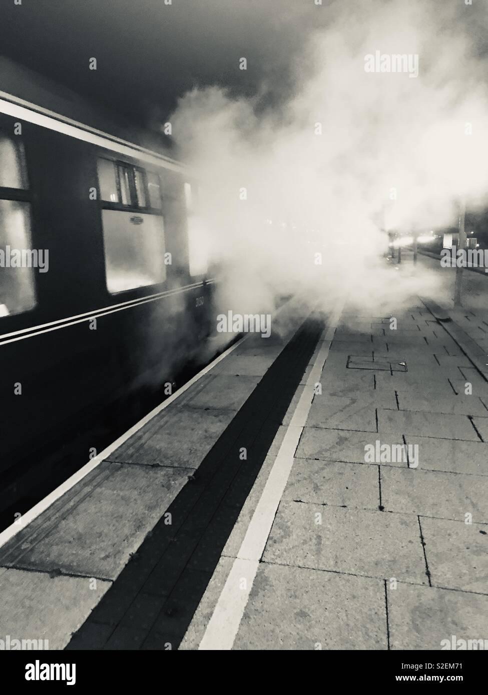 Polar Express no Birmingham Moor Street Station. Imagens de Stock