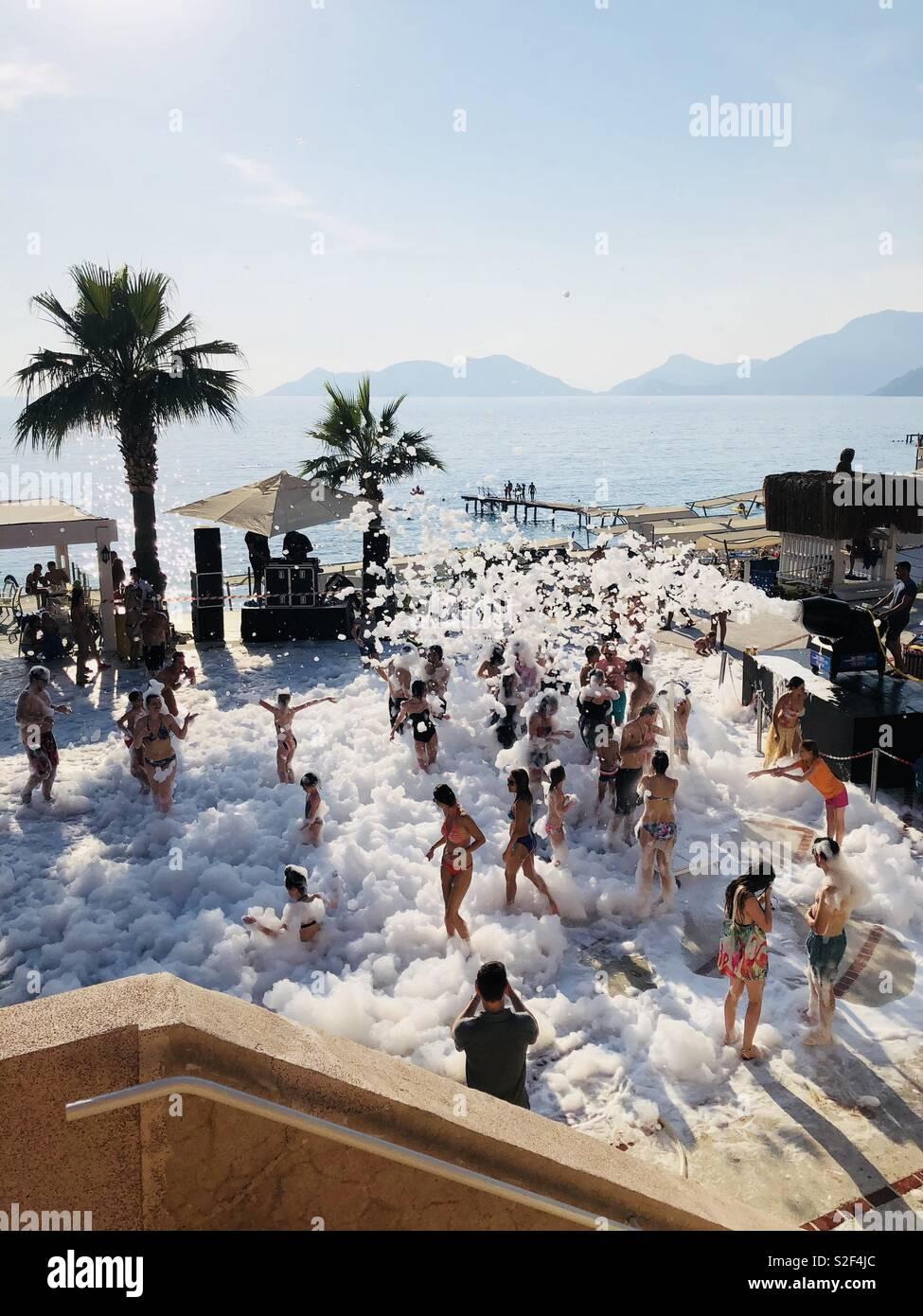 Festa de Espuma de Banho turco Imagens de Stock
