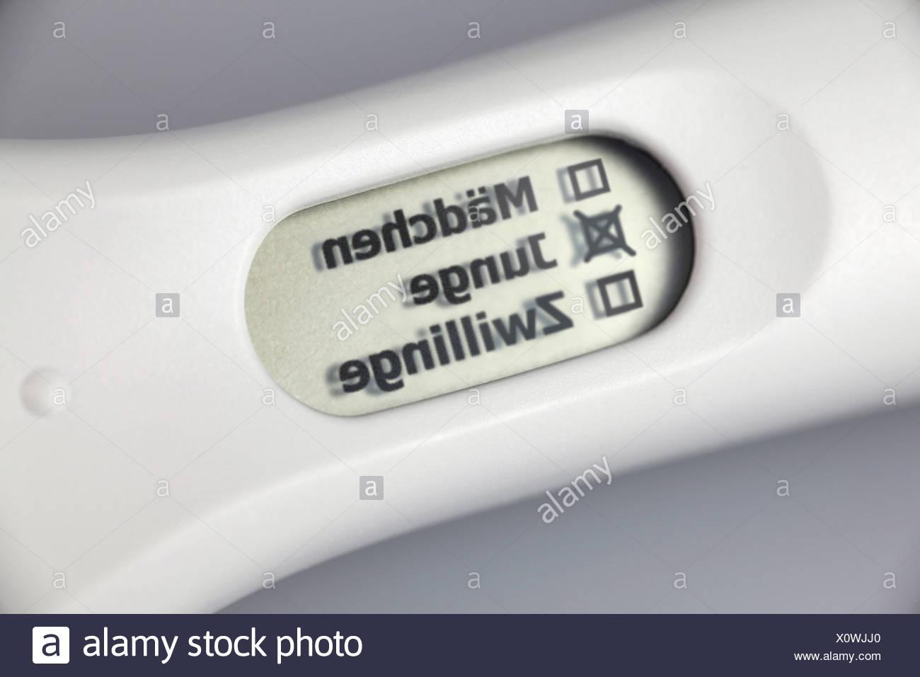 Positiver digitaler Schwangerschaftstest, Junge, teste de gravidez digital positivo, boy Imagens de Stock