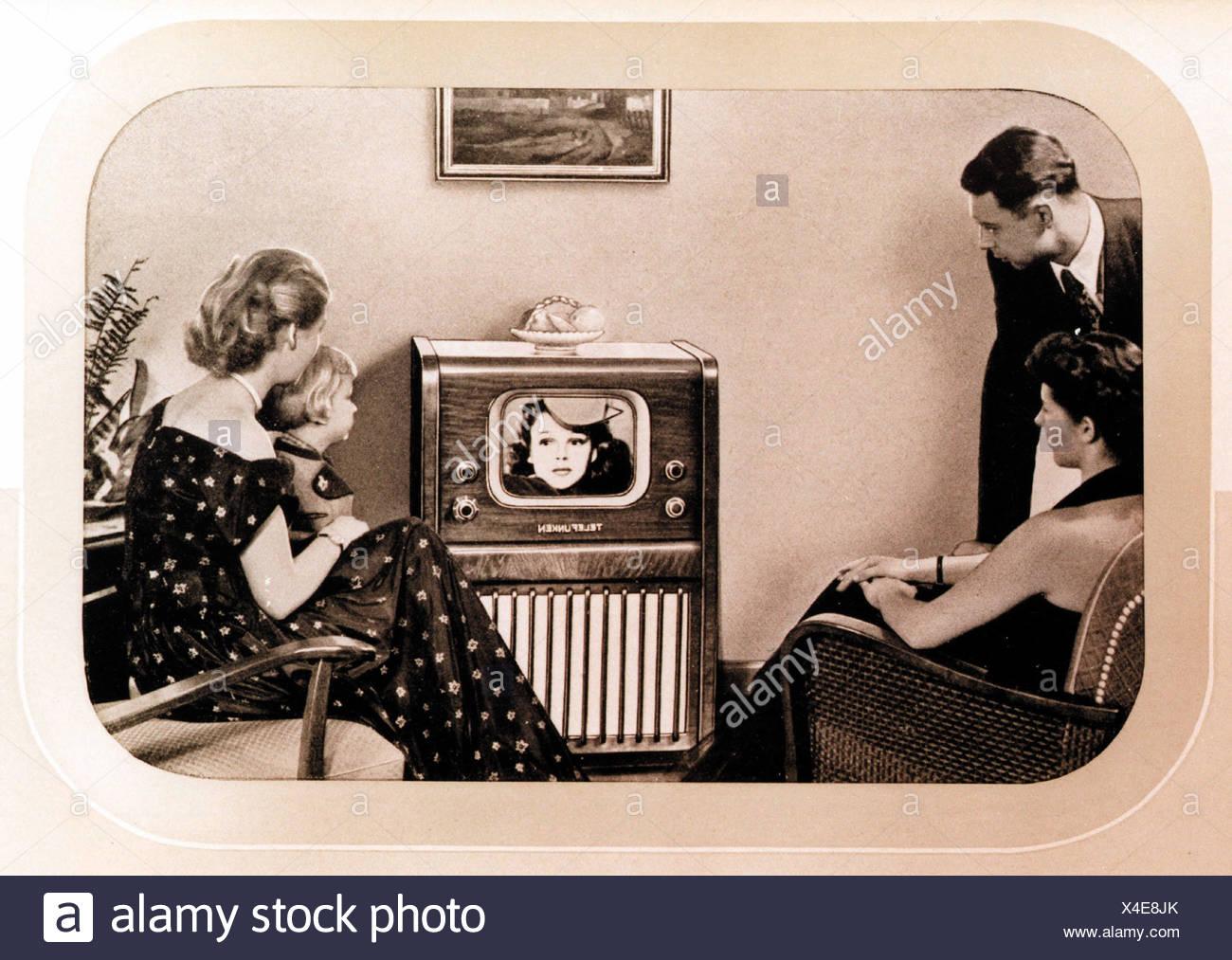 broadcast, television, Telefunken television set FE 8 S, one