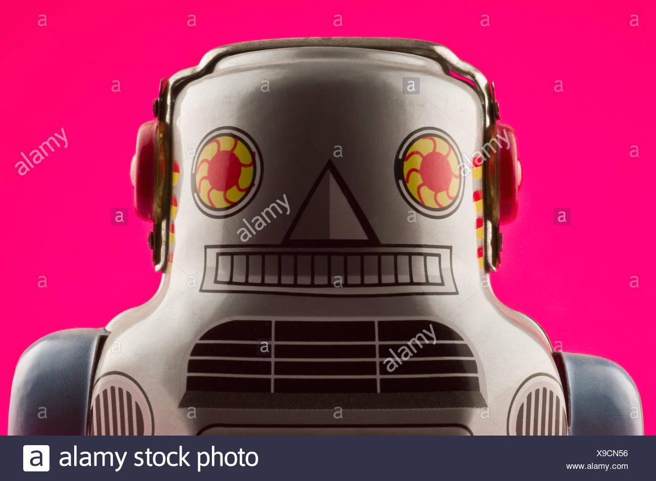 Robô de brinquedo Imagens de Stock