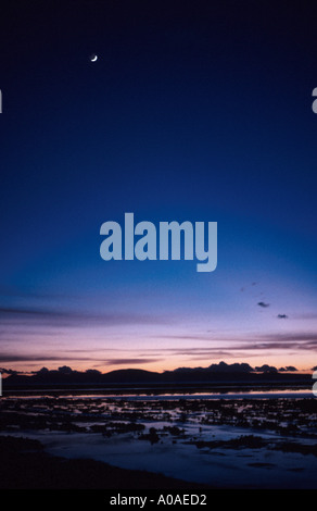 Sunrise, Lake Titicaca, Peru - Stock Image