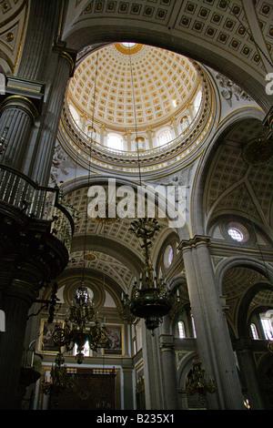The Interior of Puebla Cathedral, Puebla City, Mexico - Stock Image