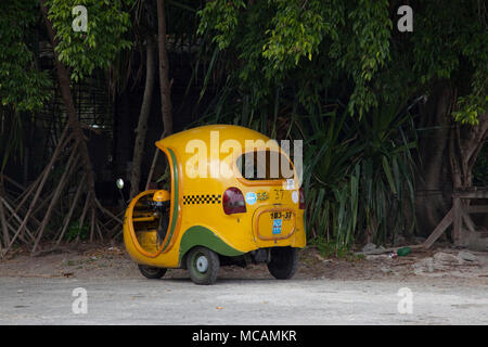 Small taxis like this one travel all over Havana, Cuba - Stock Image