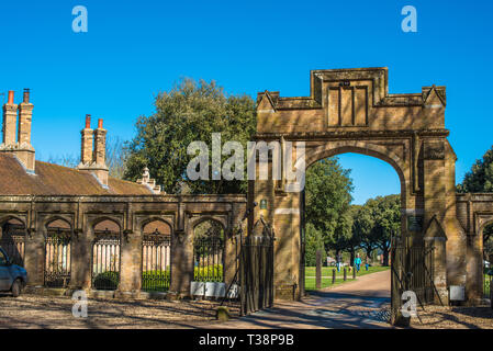 Holkham Hall North gate, North Norfolk, East Anglia, England, UK. - Stock Image