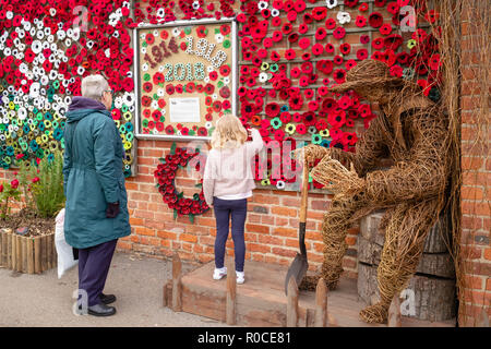 One hundred years after the Armistice: Remembering the sacrifice of 200 'York Cocoa Works staff' in the 1914-18 war, Rowntree Memorial Park, York, UK - Stock Image