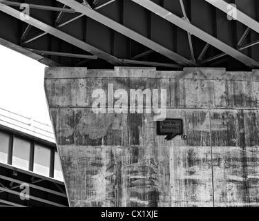 Grafitty on an interstate bridge support. - Stock Image