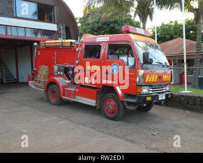 Canter Fire appliance truck in Chile 2019 - Stock Image
