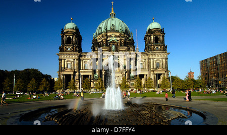 Europe, Germany, Germany, Berlin, Ostberlin, television tower, cathedral, Fernsehturm, Dom - Stock Image