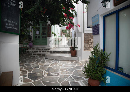 Greece, Cyclades islands, Kythnos, Dryopida Historic town - Stock Image