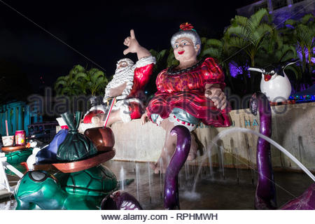 Honolulu City Lights Christmas display, Honolulu, Oahu, Hawaii, USA - Stock Image
