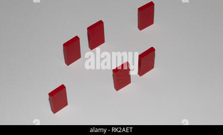 Some conceptual images suspended in the air - Stock Image