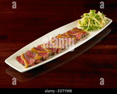 Seared Ahi Tuna - Stock Image
