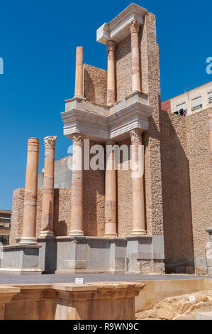 Views of the Roman Theatre of Cartagena, Spain. It was built around the year 5 BC. - Stock Image