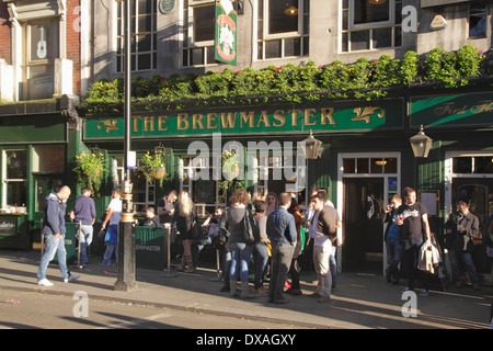 The Brewmaster Pub Cranbourn Street London Spring 2014 - Stock Image