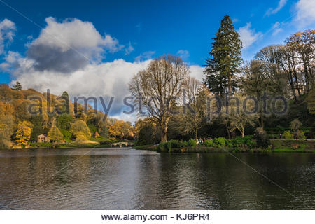 Stourhead Gardens in Wiltshire, UK - Stock Image