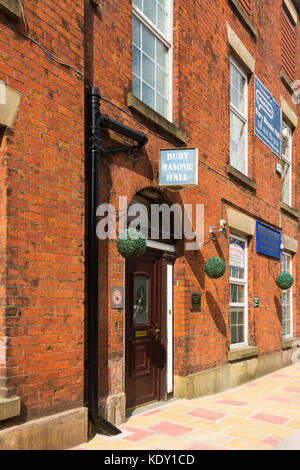 Masonic Hall, Parsons Lane, Bury, Greater Manchester. Used for meetings of the local Freemasons lodge, conference - Stock Image