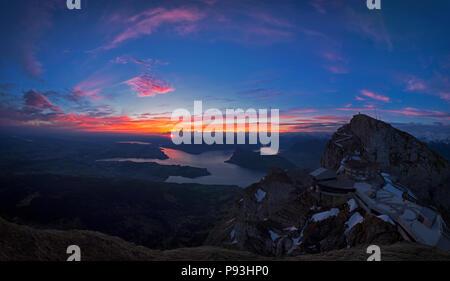 Sunrise at Pilatus - Stock Image