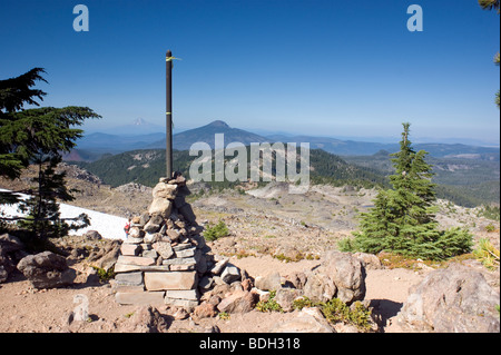Mount Jefferson from Park Butte Summit - Stock Image