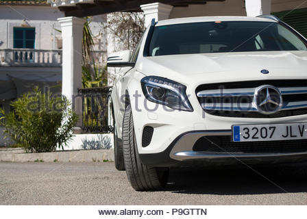 Mercedes-Benz in Ibiza, Spain. - Stock Image