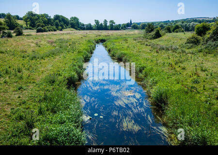 The River Cuckmere at Alfriston, East Sussex, England - Stock Image