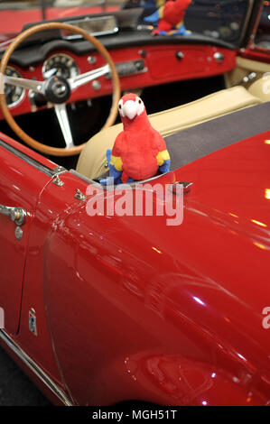 Red collection car - Stock Image