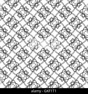 abstract vintage geometric wallpaper pattern background. Vector illustration - Stock Image