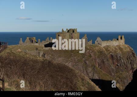 Dunnottar Castle, Stonehaven, Aberdeenshire, UK - Stock Image