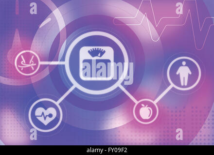 Illustrative image of health problems concept - Stock Image