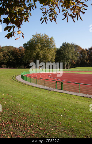 Running track lines on a sunny day - Stock Image
