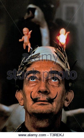 Salvador Dalí born 1904 in Figueres, Catalonia, Spain. ( Spanish surrealist ) - Stock Image