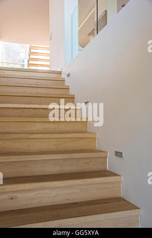 Staircase in a modern house - Stock Image