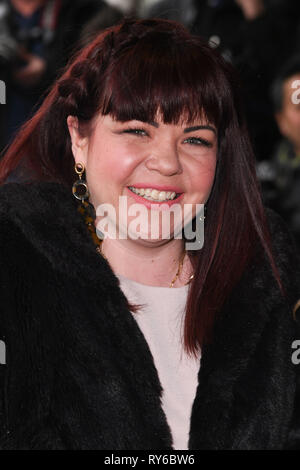 LONDON, UK. March 12, 2019: Briony Williams arriving for the TRIC Awards 2019 at the Grosvenor House Hotel, London. Picture: Steve Vas/Featureflash Credit: Paul Smith/Alamy Live News - Stock Image