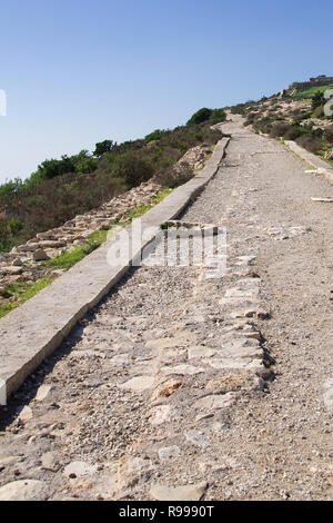 The road leading to Oufella Kasbah ruins, Agadir, Morocco, Africa - Stock Image