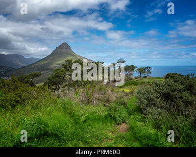 Lion's Head mountain from Signal Hill, Cape Town, South Africa - Stock Image