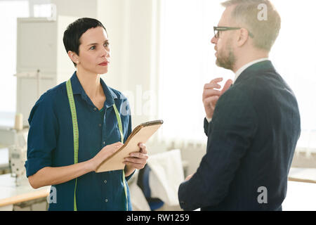 Conversation with client - Stock Image