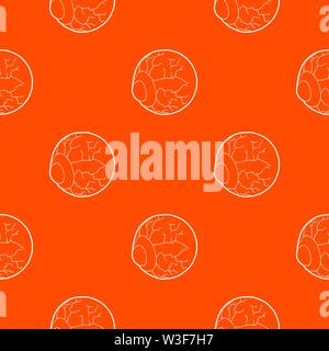 Eye pattern vector orange - Stock Image