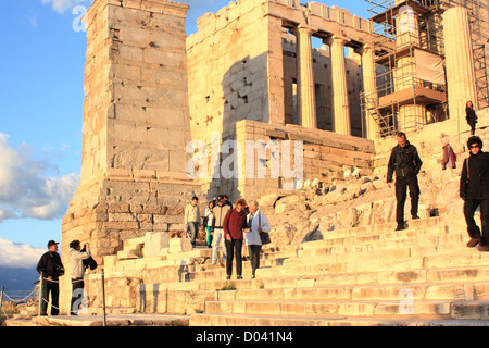 Acropolis Propylaea, Athens, Greece - Stock Image