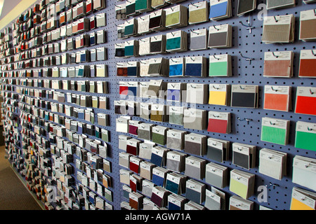 Fabric Swatches at Office Furniture Retailer New York New York - Stock Image