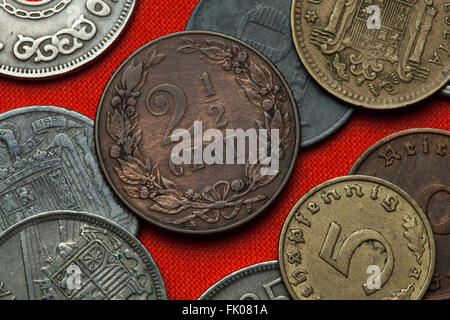 Coins of the Netherlands. Dutch two and a half cent coin (1904). - Stock Image