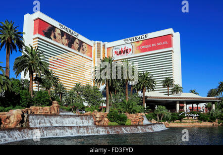 The Mirage hotel and casino, Las Vegas - Stock Image
