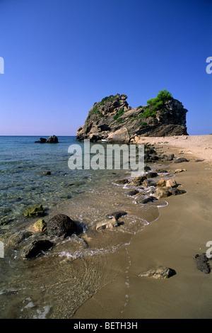 greece, ionian islands, corfu, pelekas beach - Stock Image