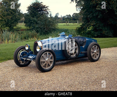 1926 Bugatti Type 35 Grand Prix 2 seater 2.0 litre inline straight 8 engine Country of origin France - Stock Image