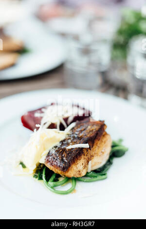Food on plate - Stock Image