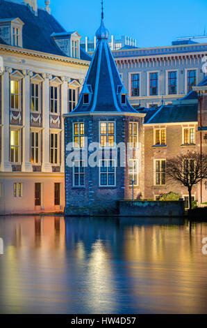 The Hague Netherlands Parliament buildings. Het Torentje - The Little Tower - office of the Dutch Prime Minister. - Stock Image