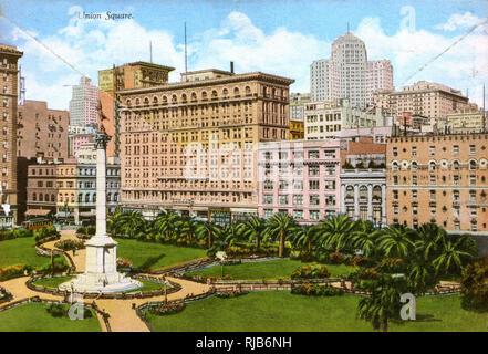 San Francisco, California, USA - Union Square - Stock Image