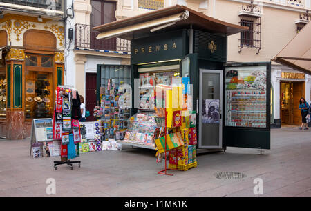 Newsstand in the center of Seville - Stock Image