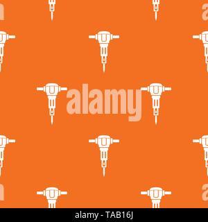 Jackhammer pattern vector orange - Stock Image